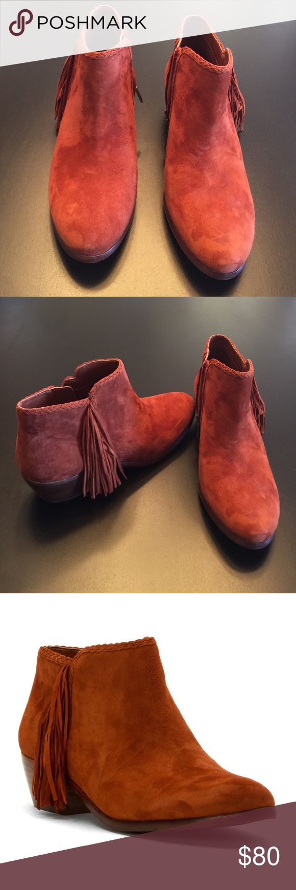 Sam Edelman Suede Boothe, NEW Sam Edelman Cinnamon color Kid Suede Leather Bootie that zips. New with box Sam Edelman Shoes Ankle Boots & Booties