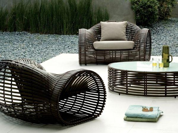 Garten-Gestaltung-Patio-Rattan-Möbel | Interieur Design ...