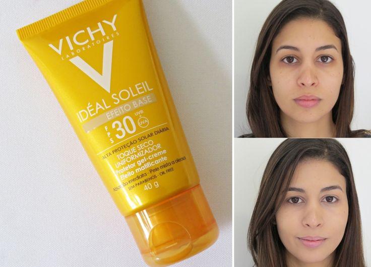 Idéal Soleil Efeito Base Vichy com FPS 30. ideal-soleil-efeito-base-vichy-fps-30. protetor solar com cor. protetor solar vichy. novo ideal soleil efeito base.