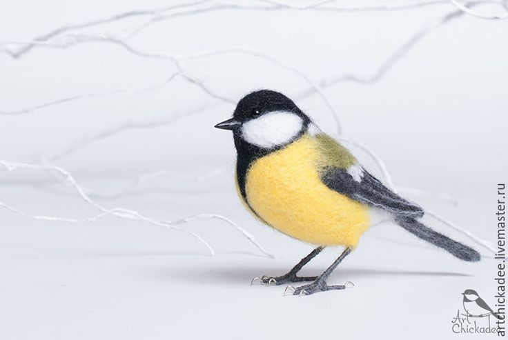 Купить Птичка Синичка - интерьерная игрушка - жёлтый, синица, синичка, птица, Валяние, валяная игрушка