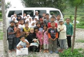 Takengon, Aceh, Indonesia  Our first project started in 2005 with 50 orphans who are survivors of the deadliest Tsunami in recorded history. We are currently sponsoring 150 orphans and our goal is to get to 200 orphans by Dec 2011. For $30/month, we feed, clothe and educate a child. We send many volunteers to teach and interact with the children. As we are 100% volunteer run organization, all of the donation goes towards our orphans.