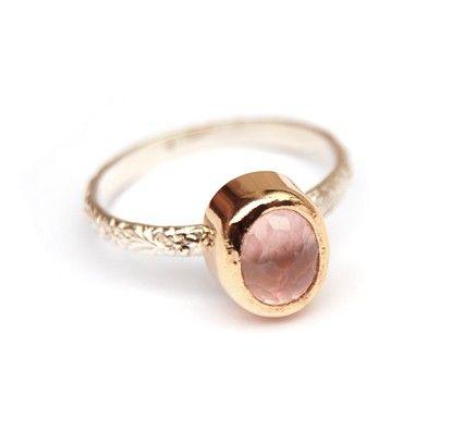 Sweet rose quartz ring