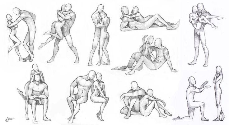 comment dessiner des gens qui s embrassent