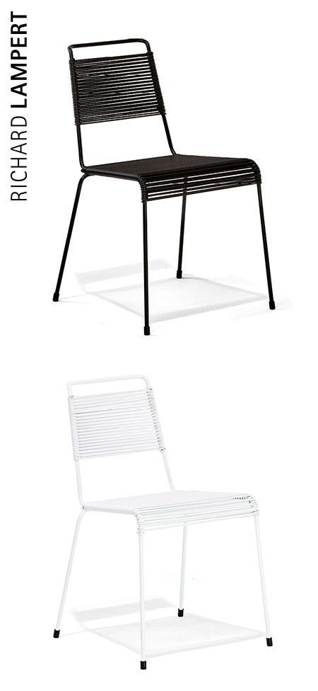 Pure finesse – ›TT54 Spaghetti‹ chair by Paul Schneider-Esleben #richardlampert #classics #chairs #PVC cords #outdoor