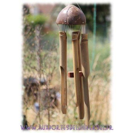 Carillon en coco et en bambou disponible sur la boutique ésotérique en ligne Aux Portes de 'lUniversel