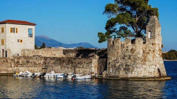 View of the old port of Nafpaktos