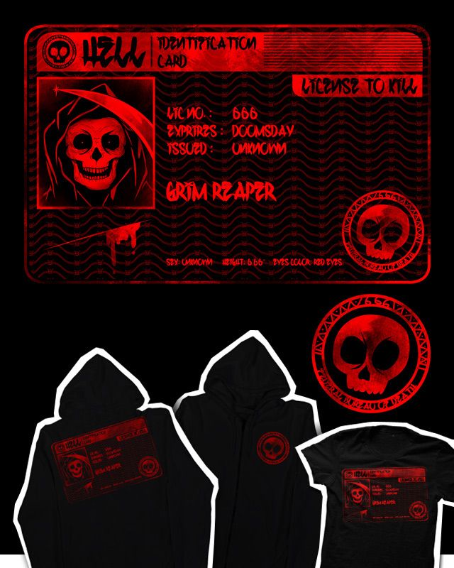 license to kill.    if you dig it please support this design: http://www.threadless.com/submission/435026/license_to_kill    thanks :)