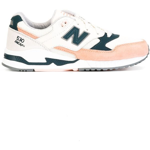 New Balance - lateral patch sneakers - women - Leather/Acrylic/rubber... ($155) ❤ liked on Polyvore featuring shoes, sneakers, grey, genuine leather shoes, leather trainers, leather sneakers, rubber shoes and new balance trainers