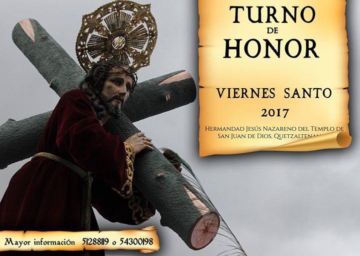 Quieres llevar en hombros al Protector de Quetzaltenango? Esta es tú oportunidad!  Información Vía Hermandad de Jesús Nazareno de San Juan de Dios