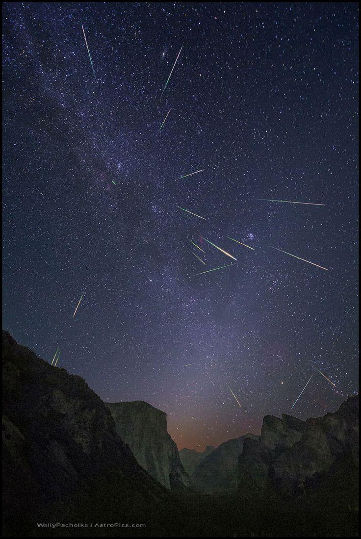 """Yosemite Perseids (photo composite)"" by Wally Pacholka (TWAN)"