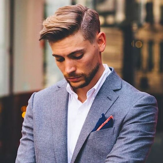 スーツに似合うヘアスタイルバーバー系