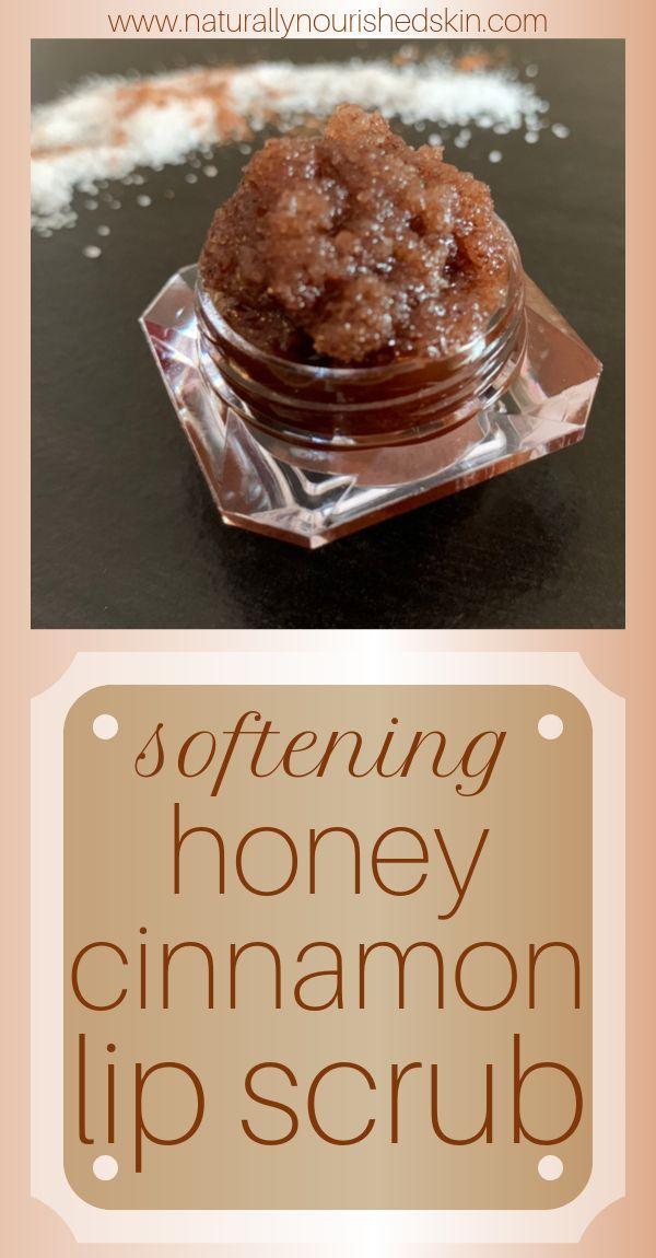 DIY Softening Honey Cinnamon Lip Scrub