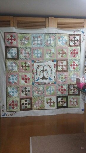 Leah s Tree of Life ready for quilting
