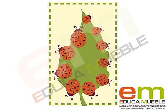 #Alfombra #educativa con #mariquitas. Incluye 10 elementos extra con #números - Tienda Educamueble
