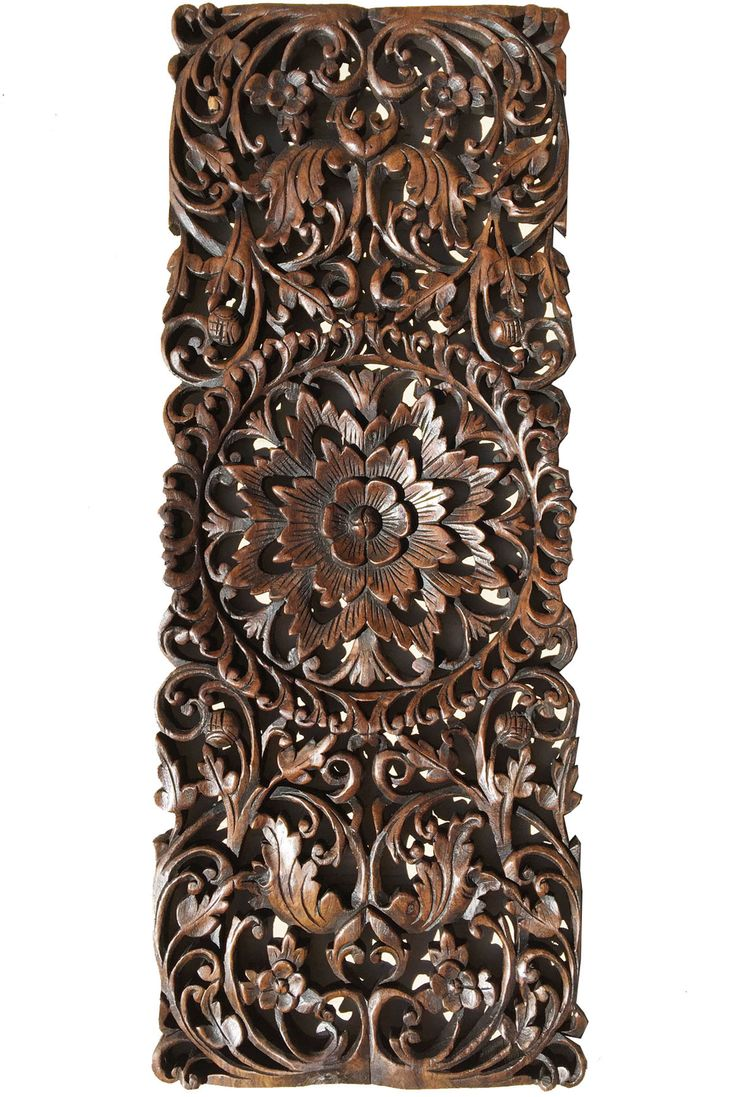 Best 25 asian wall decor ideas on pinterest small bamboo plants floral tropical carved wood wall panel asian wall art home decor large wood wall amipublicfo Choice Image