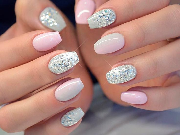 Diy Glitter Nails Sliver Pink Clear Gold Short White Coffin Summer Black Champagne Tips Neutral Gli Short Coffin Nails Designs Solid Color Nails Gorgeous Nails