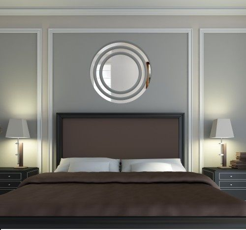 Bezpečné nalepovací kruhové zrcadla