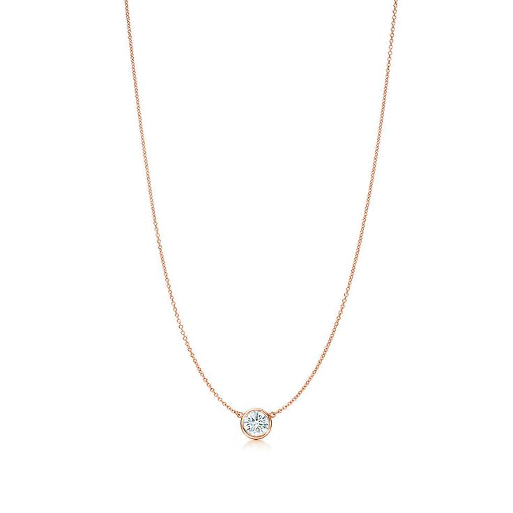 Tiffany & Co. -  Elsa Peretti® Diamonds by the Yard® pendant in 18k rose gold.