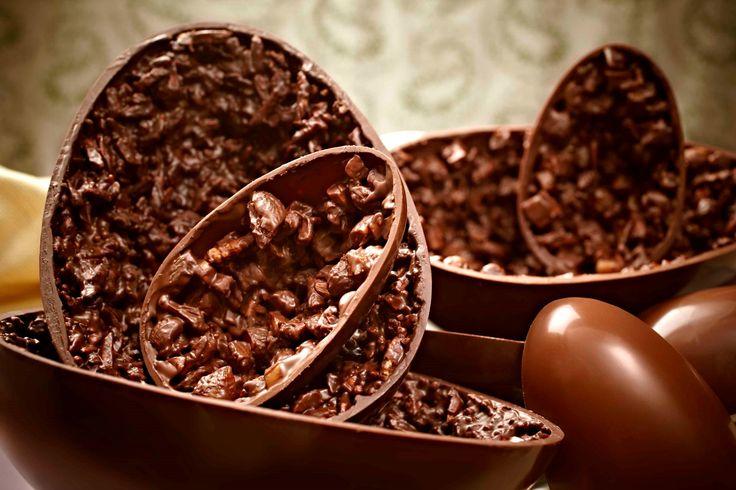 Receitas de Ovo de Páscoa caseiro recheado - ovo com frutas secas e castanhas
