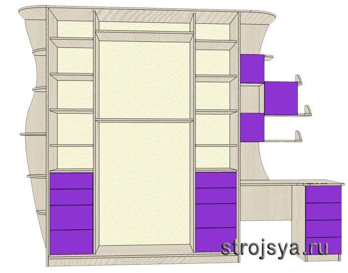 Проектирование шкафа купе