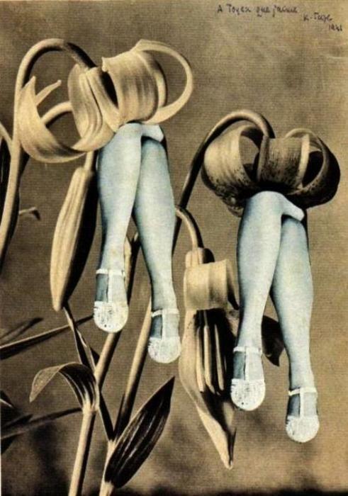 Collage dédicacé à Toyen que j'aime, 1941Artist: Karel Teige