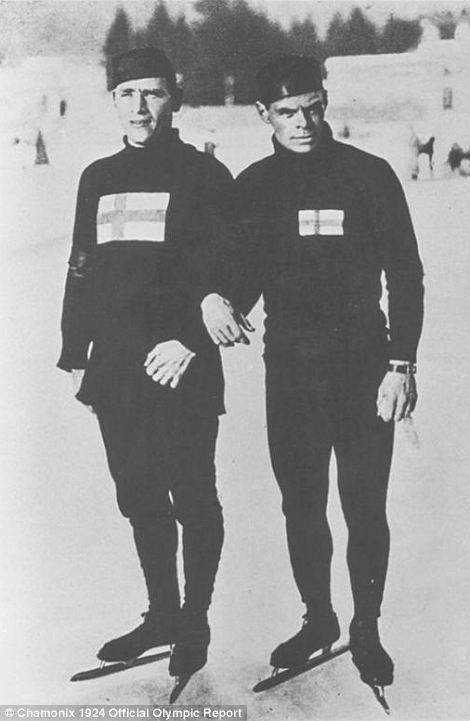 Arctic blast from the past: What athletes looked like in 1924 as Chamonix in France held the FIRST Winter Olympics