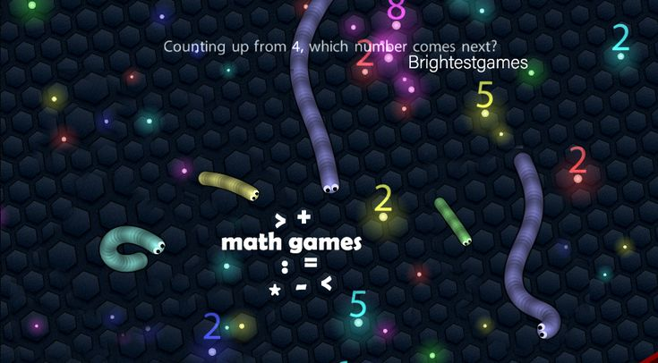 Play Math Slither On Brightestgames Com Math Games For Kids Play Math Online Math Games