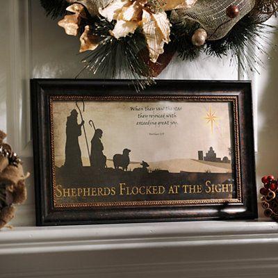 Shepherds Flocked Framed Art Print @Kirklands