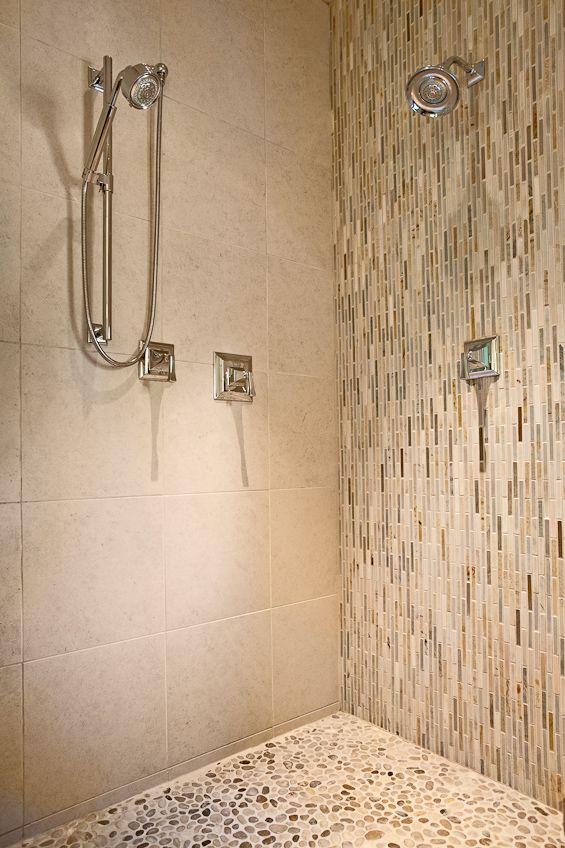 Linen Shower Tile Master Bathroom Renovation Dated To