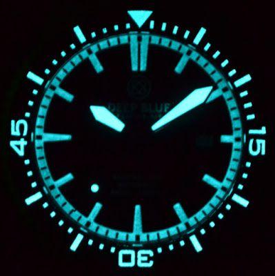 Master Horologer: Deep Blue Master 1000 Automatic Dive Watch, Ceramic Bezel Black Dial Blue Hands