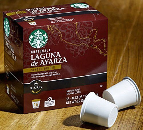 Starbucks Guatemala Laguna de Ayarza Single Origin Medium Roast Ground Coffee for All Keurig 'K-Cup' Brewers, 1 Box of 16 - .43 oz k-cups -- Additional details at the pin image, click it  : K Cups