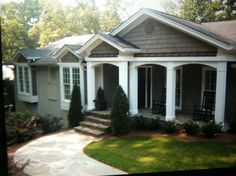 Image result for 1960s ranch house exterior remodel