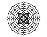 Desenho de Mandala sistema solar para colorear…