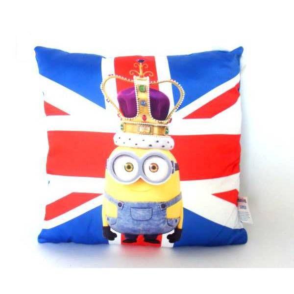 Minions sierkussen Bob - Koning (engelse vlag) #minion #minions #kevin #stuart #bob #speelgoed #minionsartikelen #minionskussens #minionkussen #minionskussentje #kadoidee