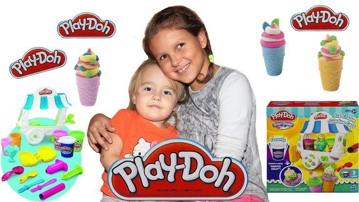 Делаем очень вкусное мороженное Пластилин Плей До Вагончик мороженного  ...