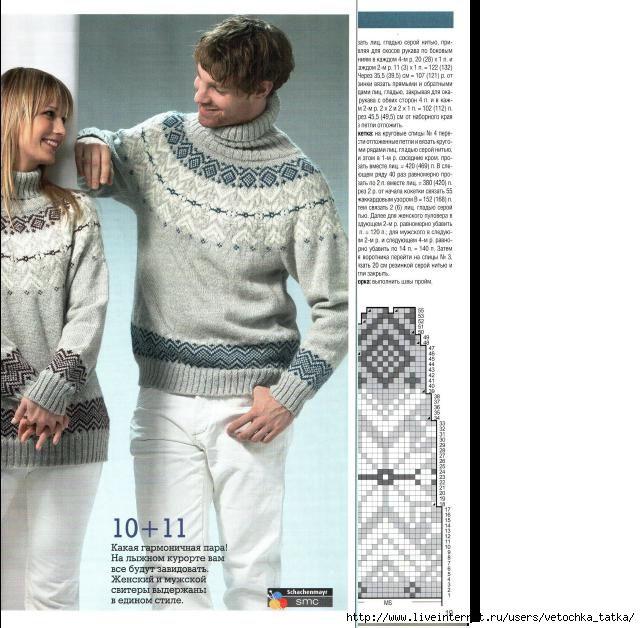 Он и Она в свитерах с норвежским узором. Обсуждение на LiveInternet - Российский Сервис Онлайн-Дневников