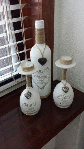 Sweet home, Sweet and Wine bottles on Pinterest
