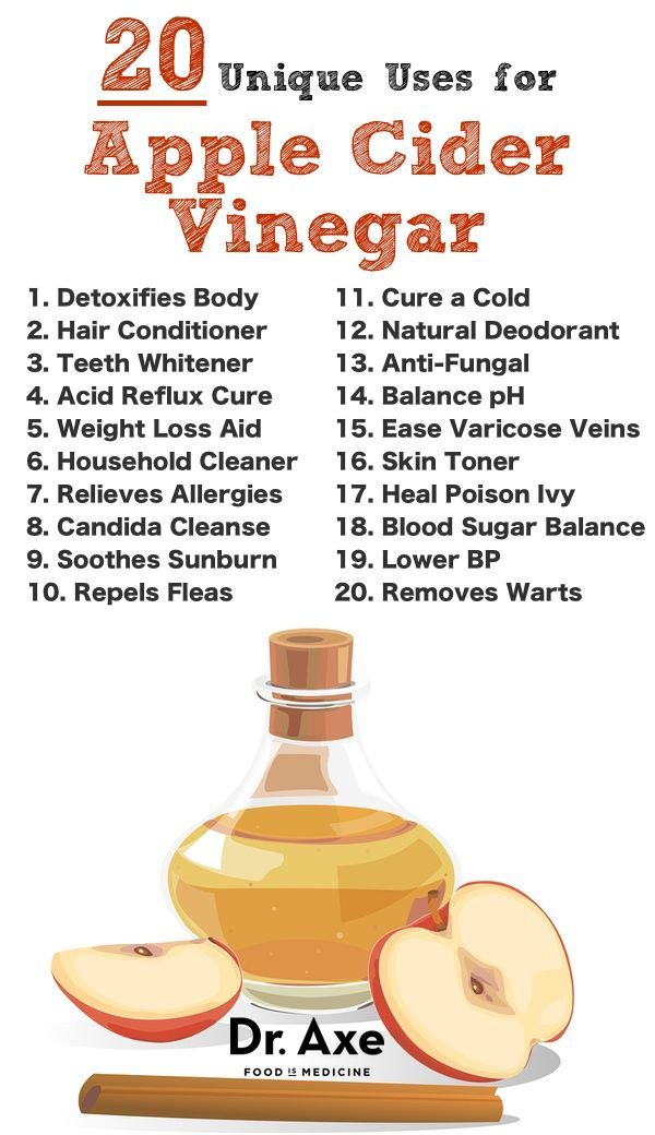 Top 20 Apple Cider Vinegar Uses Here are the top 20 reasons you should be using apple cider vinegar everyday!