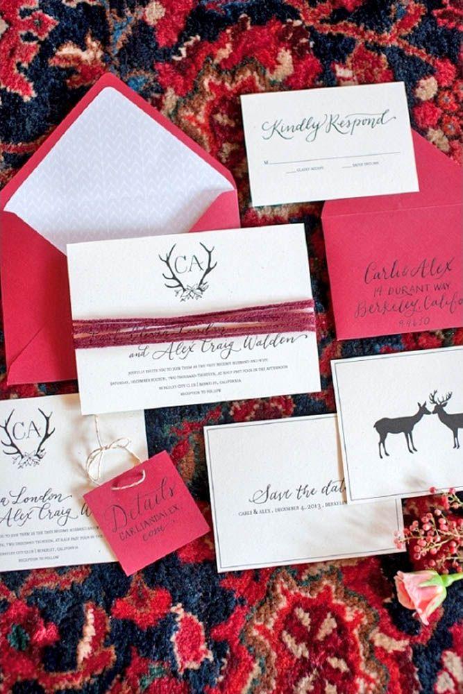 deer hunter wedding invitations%0A    Elegant Winter Wedding Invitations