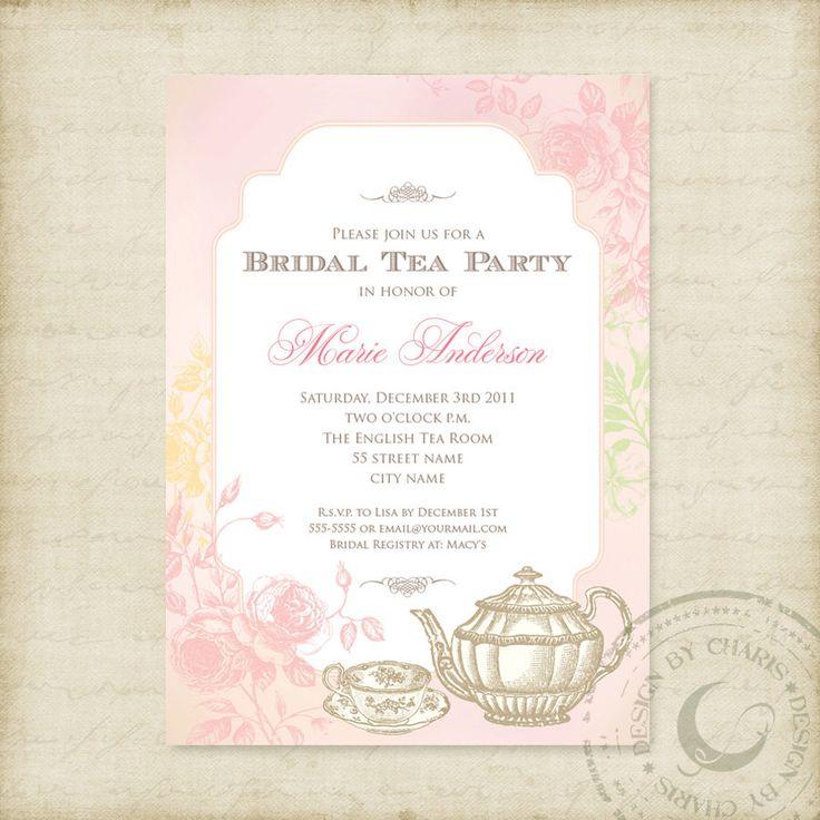107 best images about Bridal Shower Bridesmaids Tea Bachelorette – Tea Party Wedding Shower Invitations