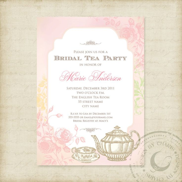 45 best images about PROJECT Tea Party Bridal Shower – Wedding Shower Tea Party Invitations