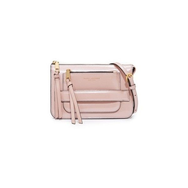 Marc Jacobs Madison Cross Body Bag (£250) ❤ liked on Polyvore featuring bags, handbags, shoulder bags, rose smoke, pink shoulder bag, pink crossbody purse, cross body, rose purse and marc jacobs purse