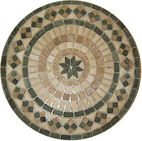 pre made mosaic medallion