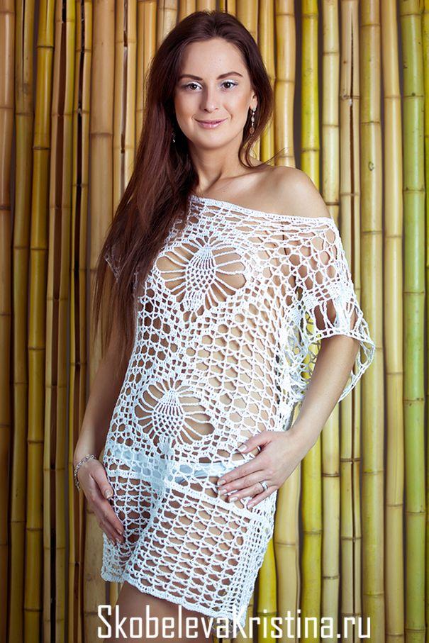 "Crochet Túnica ""Maldivas"" (Festa)"