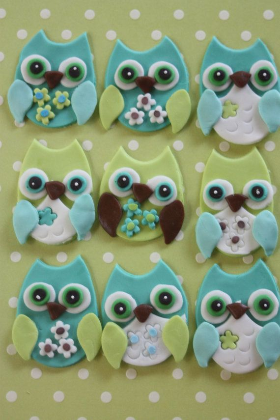 Cute sugar paste Owls that I'm sure you could make out of polymer clay