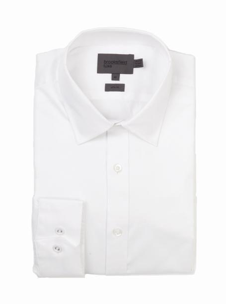 brooksfield WHITE LUXURY TWILL - BFC939 WHITE