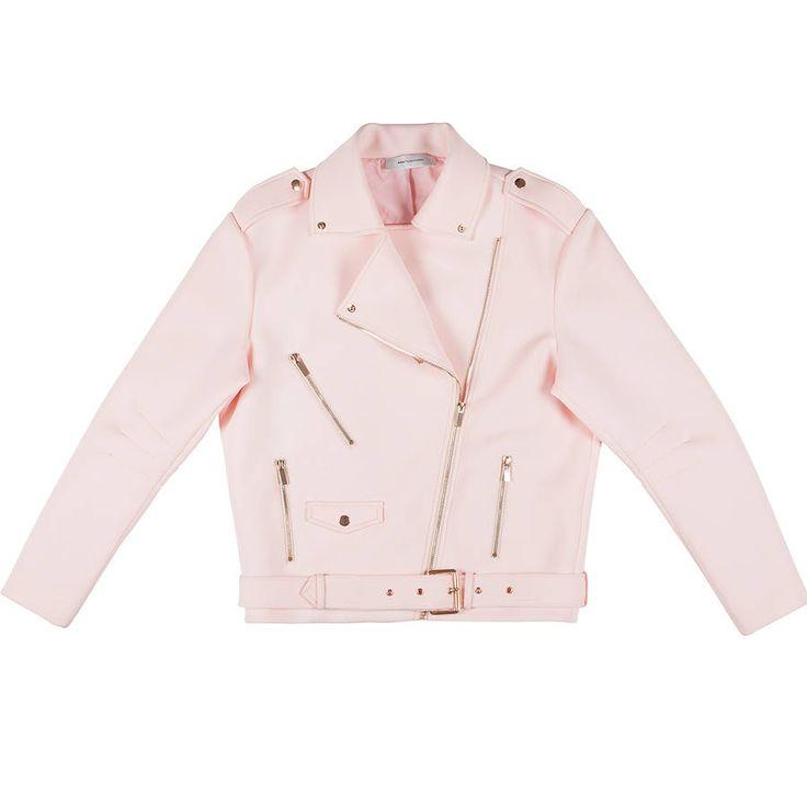 Manteau rose pâle en cuir Ash Studio