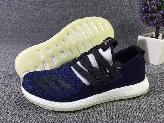 Adidas Pure Boost Raw Midnight Navy White UK Trainers 2017/Running Shoes 2017