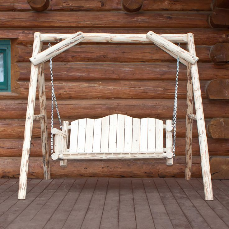 25 popular freestanding porch swings for Easy porch swing