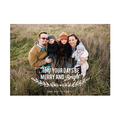 Photo Paper Mistletoe Message Christmas Cards